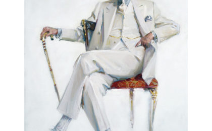Tom Wolfe in his trademark White Suit